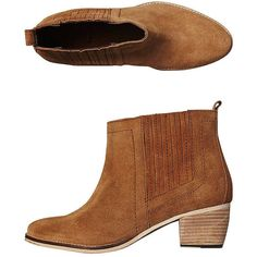 Tigerlily Drome Boot Brown ($160) ❤ liked on Polyvore featuring shoes, boots, ankle booties, brown, footwear, womens footwear, slip on boots, brown ankle boots, short brown boots and slip on booties