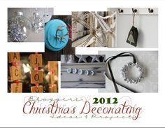 Christmas Decorating and Ideas Project E-book.    DIY Christmas Ornaments and Decor Digital Download (PDF)