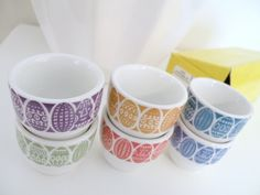 Vintage Eames Era Arabia of Finland Egg Cups