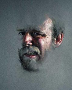Charles Pfahl - Pastel Self Portrait 2
