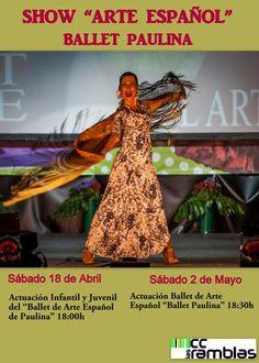 Día 17 a 18:00 h Cuentacuentos musical día 18 a 11:30 Castillo hinchable A18:00 h. Ballet de Arte Español Paulina