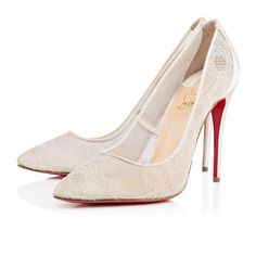 6b00522cfda4 Christian Louboutin Follies Lace 100mm Off White Dentelle Women Special-Occasion  Christian Louboutin Heels