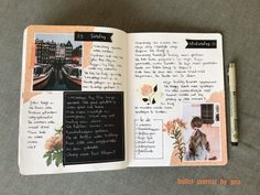 I love a creative journal spread. Photo Journal, Journal Layout, Journal Pages, Journal Ideas, Journals, Creative Diary, Creative Journal, Photo Album Display, Collage Book