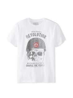 33% OFF Lords of Liverpool Men's You Want a Revolution Crew Neck Tee (White)