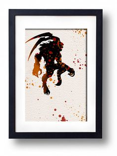 Final Fantasy summons Ifirit wall decor hanging art movie poster giclee print video game geekery