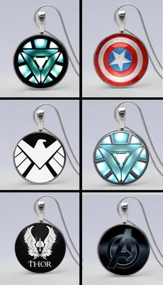 Show you are a true Avengers Fan by wearing a cool Avengers Shield Necklace. Or give a perfect gift for an Avengers fanatic!  Explore all our necklaces on our website.  Here's the link to earrings http://www.girlpowercards.com/collections/jewelry/products/iron-man-arc-reactor-earrings
