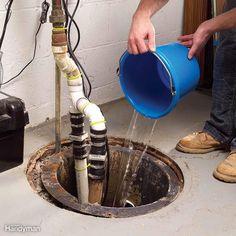 Test the Sump Pump or Risk a Flood