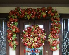 WHIMSICAL Christmas Garland with LIGHTS and CANDIES by decoglitz