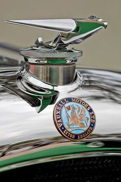 1928 Vauxhall Hurlingham Speedster Hood Ornament Photograph by Jill Reger Retro Cars, Vintage Cars, Antique Cars, Car Badges, Car Logos, Car Hood Ornaments, Automotive Art, Love Car, Car Detailing