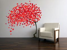 Tree with heart leaves- etsy- beautiful walls