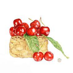 Sweet cherries on Behance