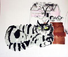 "Chloe Cheese - ""Great Bardfield Cat"", 2011 - Watercolour"