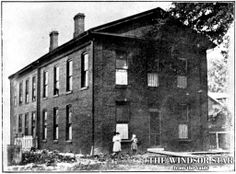 Windsor's first high school, located on the east side of Goyeau Street around the former site of the Windsor police garage, is pictured in t...