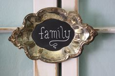 Petite Vintage Silver Tray Chalkboard by funkiefinds on Etsy, $16.50- a simple way to say thanks....