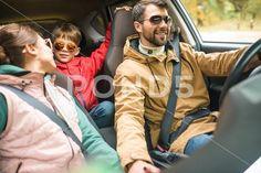 Happy family travelling by car Stock Photos , Happy Photos, Happy Family, Model Release, Programming, Family Travel, Digital Camera, Travelling, Photograph, Fotografia