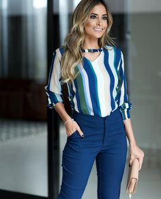 BLUSA DANNY Office Outfits, Chic Outfits, Couture Dresses, Fashion Dresses, Bollywood Fashion, My Outfit, Casual Looks, Clothes For Women, Stylish