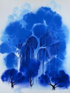 Blue forest, by Eyvind Earle