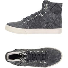 Supra Sneakers ($43) ❤ liked on Polyvore featuring men's fashion, men's shoes, men's sneakers, lead and mens flat shoes