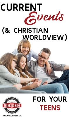 Current Events (& Christian Worldview) for Your Teens Want to study current events with your teens? Here are resources to study current events with high schoolers and middle schoolers. Homeschool High School, Homeschool Curriculum, Homeschooling, Parenting Books, Parenting Advice, Prayer For Family, Spiritual Disciplines, Middle Schoolers, Kids Calendar