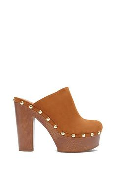 Studded Faux Suede Clogs   Forever 21 - 2000182480