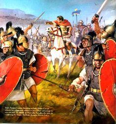 Цезарь в сражении при Фарсалах...