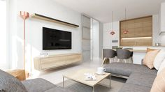 Dobryinterier.sk Bratislava, Flat Screen, Loft, Living Room, Inspiration, Home Decor, Projects, Blood Plasma, Biblical Inspiration