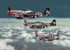 "The American P-51. These planes, along with the British Supermarine Spitfire, The Japanese Mitsubishi ""Zero"", and the German Messerschmidt Me-109, make up the four most famous and instantly recognizable World War II fighters."