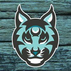 Bobcats - Cat's Nine Lives Hockey Logos, Sports Team Logos, Bobcat Pictures, Logo Basketball, Sports Decals, Logo Design Inspiration, Design Ideas, Cat Logo, Animal Logo