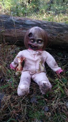 Zombie Baby Alicia - OOAK Undead Doll