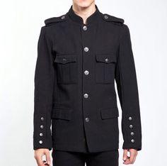Tripp NYC Band Leader Jacket Military Black Mens Sz M Altered Sleeves Steampunk Military Army, Military Jacket, Sweater Jacket, Men Sweater, Army Band, Diesel Jacket, Men Style Tips, Modern Man, Mens Fashion