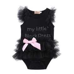 baby bodysuit 2016 wholesale newborn baby girls clothes little black lace tulle sleeveless bodysuit outfits - Kid Shop Global - Kids & Baby Shop Online - baby & kids clothing, toys for baby & kid Baby Outfits, Body Suit Outfits, Kids Outfits, Body Suits, Baby Girl Newborn, Baby Girls, Infant Girls, Baby Boy, Outfit Summer