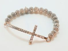 Cross Bracelet......BLING! #cross jewelry #stylish splendor
