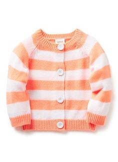 Baby Clothes Knitwear & Jumpers | Nb Fluro Stripe Cardigan | Seed Heritage