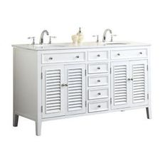 Details About 60 Cottage Style Keri Double Sink Bathroom Vanity N1128 60w