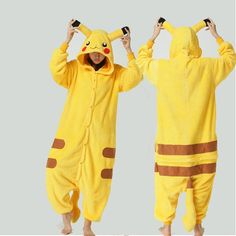 KIGURUMI Cosplay  Charactor animal Hooded Night clothes Pajamas Pyjamas Costume Onesie outfit -pikachu on Etsy, £18.80