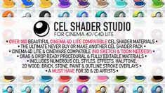 Never buy or make another cel shader again.  Cel Shader Studio is packed with over 900 beautiful procedural cel shader materials & numerous cel shader styles and overlays. Special intro price of only $79!