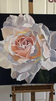 Easy Flower Painting, Flower Art, Watercolor Flowers, Watercolor Paintings, Arte Floral, Large Art, Painting Inspiration, Creative Art, Art Photography