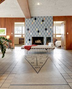 "Midcentury masterpiece 1955 time capsule ""tile house"" in Minneapolis - every room full of exquisite tile designs - 69 photos - Retro Renovation"