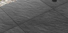 Bradstone Mode porcelain paving in dark grey
