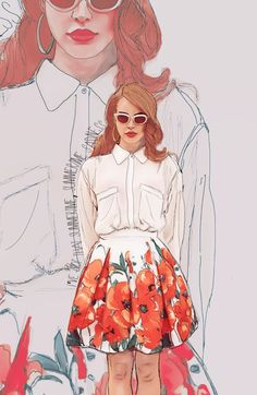 Lana Del Rey Illustration - I loved this as I'm a big fan of Lana Del Rey