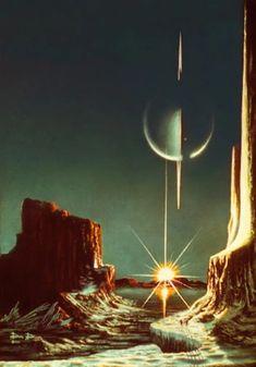landscape 70s sci fi art– Google Поиск Fantasy Landscape, Fantasy Art, Trippy, Rpg Cyberpunk, Karate Kid Movie, Timeline Images, Sci Fi Kunst, Science Fiction Kunst, Arte Sci Fi