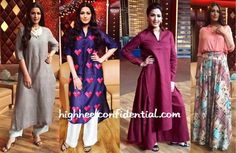 Going by these pictures, when filming her television show, Sonali seems to favor easy, relaxed silhouettes. Of the four, which look of hers do you like most? Sonali Bendre On Mission Sapney Sets Far Left: In Anavila And Alexander Wang Sandals Left: In Quirkbox, J Crew And Saint Laurent Sandals Right: In Ilk And Vince …