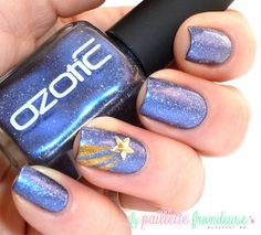 Ozotic 914 with 'make a wish star' mani creation by La Paillette Frondeuse!  WOWZA