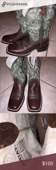 Women's Ariat boots Used 2-3 times. Just cleaned them, they are in perfect condition!! Like new! Make an offer!!!! Ariat Shoes Heeled Boots