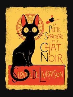 """""""La Petite Sociere et le Chat Noir - Service de Livraison"""" T-shirt by Adho1982   Redbubble"""