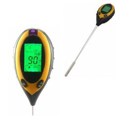 check price 4 in 1 digital thermometer garden soil moisture light ph meter sensor sunlight #soil #moisture #sensor