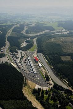 The Circuit de Spa-Francorchamps - Belgium. Most well known for the sweeping, uphill turn and long straight that follows it at the start of the lap.