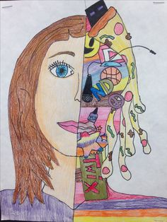 Portraits For Kids, Intro To Art, 7th Grade Art, Middle School Art Projects, Art Worksheets, Virtual Art, Art Drawings For Kids, Expressive Art, Arts Ed