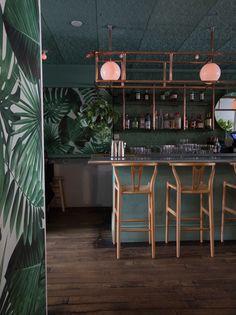 Di An Di restaurant in Brooklyn serves Vietnamese cuisine amid plants