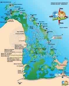 Mapa del Parque Nacional Morrocoy